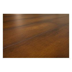 Lamton - Lamton Laminate - 12mm Narrow Board Collection w Underlay - [16.6 sq ft/box] - Virginia Walnut -  Lamton brings you top-quality, AC3-rated, CARB-ATCM - Phase 1 compliant, HDF-core laminate flooring with pre-attached underlay. The pre-attached 2mm foam underlay adds convenience while installing and sound comfort underfoot. The unique combination of a glueless, click-lock system and pre-attached underlay makes for the easiest and fastest install of all.     This Lamton laminate comes with microbeveled edges, a textured finish, and also in a unique variety of colors that replicates the exotic style of hardwood species. Manufactured with European paper and ink for clearer grain patterns and superior fade resistance, these floors will bring beauty to any interior for years to come. Lamton flooring is perfect for both residential and commercial applications and is ideal for higher traffic areas.