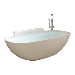 ADM - ADM White Stand Alone Resin Bathtub, Glossy - SW-111