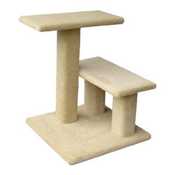 "Animal Stuff - 24"" The Mini Lucy Cat Tree - Animal Stuff cat furniture offers many intriguing no-assembly designs for your favorite feline. These products have been thoroughly cat-tested for durability and stability. All cat furniture is made from real wood and is covered with attractive plush cut-pile commercial carpet. Nails and glue are not used in the building process. Features: -Made in the USA.-Covered with attractive plush cut-pile commercial carpet.-Nails and glue are not used in the building process.-Constructed from real wood.-Color shades vary and are not guaranteed to match what is shown on any monitor.-Distressed: No.-Country of Manufacture: United States.-Product Type: Perch.-Collection: The Mini Lucy.-Frame Material: Wood -Frame Material Details: Plywood..-Solid Wood Construction: No.-Number of Items Included: 1.-Weather Resistant: No.-Water Resistant: No.-Tear Resistant: Yes.-Tip Resistant: Yes.-Scratch Resistant: Yes.-Stain Resistant: No.-Odor Resistant: No.-Non-Skid: No.-Number of Tiers: 2.-Mounted: No.-Free Standing: Yes.-Hanging: No.-Removable Cover: No.-Grooming Aid: No.-Multiple Cats: Yes -Number of Cats: 2..-Toys Included: No.-Scratching Post Included: Yes -Number of Scratching Posts: 2..-Scratching Pad Included: No.-Catnip Included: No.-Tunnel Included: No.-Hammock: No.-Ladder: No.-Ramp: No.-Condo Included: No.-Bed Included: No.-Weight Capacity: 40.-Outdoor Use: No.-Swatch Available: Yes.-Commercial Use: No.-Eco-Friendly: No.Specifications: -Cats International Approved: No.Dimensions: -Overall height: 24'' H.-Short post height: 12'' H.-Shelves: 10'' W x 20'' D.-Overall Product Weight: 22.-Overall Height - Top to Bottom: 23.5.-Overall Width - Side to Side: 19.-Overall Depth - Front to Back: 19.-Platform Height - Floor to Platform: 23.5.-Platform Width - Side to Side: 19.-Platform Depth - Front to Back: 10.-Condo: No.-Scratching Post: -Scratching Post Diameter: 4..-Scratching Pad: No.-Tunnel: No.Assembly: -No Assembly Required.-Assembly Required: No.Warranty: -Product Warranty: 30 Days."