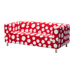 Jenny Bergman - KLIPPAN Loveseat, Dottevik Red - This sofa is definitely bold! I like how funky it is, but I would probably only use it in a kid's room.