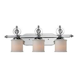 Golden Lighting - Golden Lighting 1030-BA3 CH 3 Light Vanity - Sophisticated, sleek modern style creates glamour