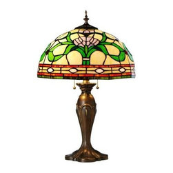 Home Decorators Collection - Home Decorators Bedroom Lamp: Ainsley 23 in. Multi Table Lamp 0865300730 - Shop for Lighting & Fans at The Home Depot. Our Ainsley Table Lamp boasts a beautiful pattern of multi-color glass in a leaf and flower pattern. The lamp is a chic addition to any living room or entryway. The well constructed glass shade adds visual interest and bounces light in an interesting fashion. Complement your home's decor with tiffany lighting; order now.