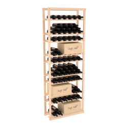 Wine Racks America - Baker Style Case/Bottle Rack in Pine, (Unstained) - This wine rack kit is a versatile and beautiful addition to your wine cellar. This rock solid kit withstands extensive use of storing bottles and cases together in one place. That's a guarantee. As a freestanding solution or included with a complete wine cellar, you'll love this rack.