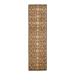 Safavieh - Safavieh Heirloom Hlm1671-2520 Brown / Gold Area Rug - Using style and sophistication without becoming too formal, Safavieh Heirloom rugs create a sense of welcome wherever they are placed. Perfect at bringing a sense of elegance to your home, Heirloom rugs use ornate floral designs featuring vines and latticework. Machine made from polypropylene, the Heirloom rug collection retains the high quality of traditional Persian and European rugs while being easier to care for and highly durable.