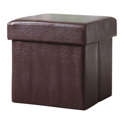 Coaster - Coaster Square Faux Leather Storage Ottoman in Brown - Coaster - Ottomans - 500937 - This square storage ottoman is a simple way to add seating and organization to your living room. Lift the top off to reveal a hidden storage compartment where you can neatly tuck away pillows and blankets for more relaxing comfort.