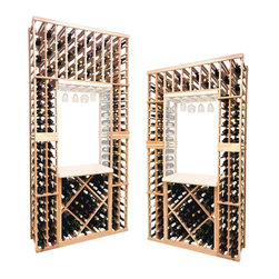 Wine Cellar Innovations - Tasting Center w/Diamond; Vintner: Premium Redwood, Light Stain - 8 Foot - The Vintner Series individual bottle wine rack kit with lower diamond bin is sold to be compatible with the Vintner Archway & Table Top option, or the Vintner Glass Rack and Table Top Option. This wine racking module consists of all the above and below individual wine bottle racking for the unit as pictured. Please note that there is only an 8 Ft & a 7 Ft Option available for this unit. The 8 Ft Option is compatible with stacking double 4 Ft Options, and the 7 Ft Option is compatible with stacking 4Ft Options on the bottom, and 3Ft Options above. Archway & Table Top, & Glass Rack and Table Top kits sold separately. Moldings and platforms sold separately. Assembly required.