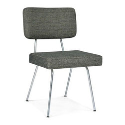 Modernica - Modernica   Case Study Dining Chair - Comfortably padded upper back and seat rests meet trim chrome legs in this versatile side chair from the George Nelson Case Study series. Select from a wide range of upholstery options.