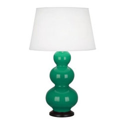 Triple Gourd Table Lamp by Robert Abbey -