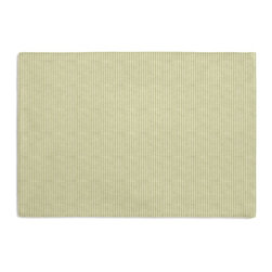 Light Green Pinstripe Custom Placemat Set - Is your table looking sad and lonely? Give it a boost with at set of Simple Placemats. Customizable in hundreds of fabrics, you're sure to find the perfect set for daily dining or that fancy shindig. We love it in this light green & ivory woven cotton pinstripe for a preppy classic accent.