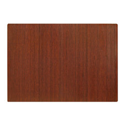Anji Mountain - Anji Mountain Bamboo Standard Roll-Up 5mm Chairmat w/out Lip in Dark Cherry - Chairmat w/out Lip in Dark Cherry belongs to Bamboo Standard Roll-Up 5mm Collection by Anji Mountain Our patented Bamboo Office Chairmats have introduced eco-friendly style to what was formerly an unattractive and purely functional accessory. Naturally elegant bamboo is more durable than a plastic mat and adds a charming organic touch to any area. Chairmat (1)