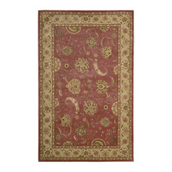 Nourison - Nourison 2000 2215 2' x 3' Rose Area Rug 04027 - Bejeweled flowers bloom voluptuously across a seductive background of rich, deep rose...as if captured at the moment of sunrise. The elegant Persian style and glowing patina of the magnificent color scheme work in perfect harmony to make this unique design a treasure.
