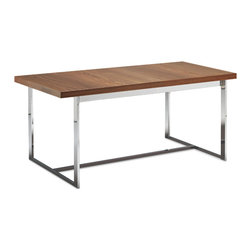 Domitalia - Spice Rectangular Table, Walnut - -Rectangular Table
