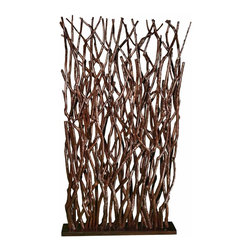Groovystuff - Groovystuff Woodlands Branch Room Screen in Chocolate Lacquer - Features: