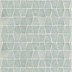 Profile Glass Tile -  Ann Sacks Tile & Stone - Love this unusual shaped mosaic...great color too. This line also has mini-brick mosaic, stacked and square mosaic and tons of other shapes and colors to choose from