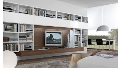 modern wall shelves by A WHITE ROOM