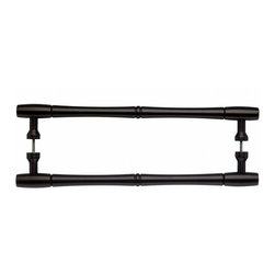 Top Knobs - Nouveau Bamboo Back to Back Door Pull - Oil Rubbed Bronze (TKM797-18 pair) - Nouveau Bamboo Back to Back Door Pull - Oil Rubbed Bronze