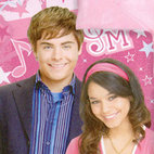 Idea Nuova Inc - Disney Troy Gabriella Pink High School Musical Sleeping Bag - FEATURES: