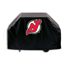 """Holland Bar Stool - Holland Bar Stool GC-NJDevl New Jersey Devils Grill Cover - GC-NJDevl New Jersey Devils Grill Cover belongs to NHL Collection by Holland Bar Stool This New Jersey Devils grill cover by HBS is hand-made in the USA; using the finest commercial grade vinyl and utilizing a step-by-step screen print process to give you the most detailed logo possible. UV resistant inks are used to ensure exeptional durablilty to direct sun exposure. This product is Officially Licensed, so you can show your pride while protecting your grill from the elements of nature. Keep your grill protected and support your team with the help of Covers by HBS!"""" Grill Cover (1)"""