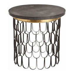 """Arteriors - Arteriors Home - End Table - 6557 - Arteriors Home - End Table - 6557 Features: End TableIron and marble Material Some Assembly Required. Dimensions: 23"""" H"""