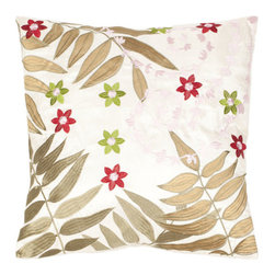 Safavieh Home Furniture - Multi and Green 18-Inch Decorative Pillows Set of Two - - This 8-inch Cream / Green Decorative Pillows (Set of 2) features exquisitely detailed red flowers punctuate an artful composition of ferns and trailing vines of pink blossoms about to bloom. Every motif is appliquTd on a cover of softly shimmering satin polyester.   - Multi / Green  - Some assembly required - Yes  - Please note this item has a 30-day manufacturer's limited warranty that covers product defects. Inspect your purchase upon delivery and notify us immediately with any concerns. Safavieh Home Furniture - PIL805A-1818-SET2