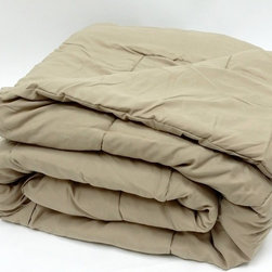 Bedding Web Store - Oversized Down Alternative Comforter 90 GSM-Taupe - High Quality Oversized Down Alternative Comforter Super-Soft 90 GSM