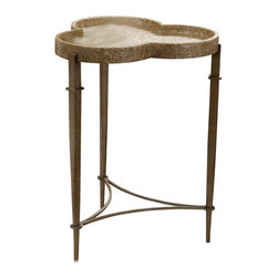 "Hooker Furniture - Hooker Furniture Melange Clover Accent Table - Crushed shells give a natural glow to the Clover Accent Table, sure to add character to your space. Metal and Capiz. Dimensions: 19""W x 19""D x 26""H."