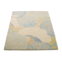 Grandin Road - Monterey Indoor Area Rug - Ultra plush rug offers beauty and extra softness underfoot. Refined with a mix of tufted, hooked, and high-twisted textures. Woven from premium New Zealand wool. Sturdy cotton backing. GoodWeave certified, which means it's responsibly handmade by skilled artisans. Anchor your room with our dynamic and luxurious ginkgo-and-leaf area rug. With a beautiful mix of colors and textures, premium New Zealand wool, and GoodWeave certification, Monterey offers inspiration and delight with every step.  .  .  .  . GoodWeave certified, which means it's responsibly handmade by skilled artisans . Extend the life of your rug with a Nonslip Rug Grip (sold separately) . Imported.