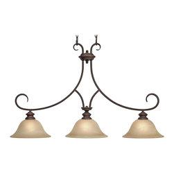 Golden Lighting - Golden Lighting 6005-10 RBZ Island Light - Golden Lighting 6005-10 RBZ Island Light