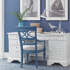 WorkSpace and Home Office | Smart Furniture - Work would be a breeze with a coastal office like this.