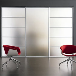 Light 04 Sliding Door - I like these sliding doors from Modernus because they let in light while still providing privacy, thanks to the frosted glass panels. And you can customize the materials, including metal, lacquer and wood frame, to get the right door for your space.