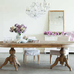 Rachel Ashwell Shabby Chic Couture - The Pavillion Double Pedestal Oval Dining Table