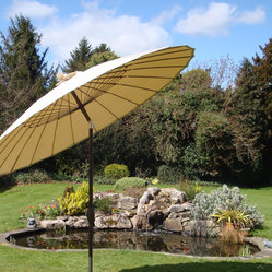 Shanghai Parasol Beige - This parasol is great for gardens with an Asian design.