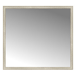 """Posters 2 Prints, LLC - 56"""" x 51"""" Libretto Antique Silver Custom Framed Mirror - 56"""" x 51"""" Custom Framed Mirror made by Posters 2 Prints. Standard glass with unrivaled selection of crafted mirror frames.  Protected with category II safety backing to keep glass fragments together should the mirror be accidentally broken.  Safe arrival guaranteed.  Made in the United States of America"""