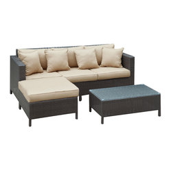 Urban Dimension Outdoor Wicker Patio Sectional Sofa Set