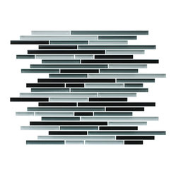 Tahoe Fine Lines Random Strip Glass Mosaic Tiles