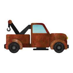 My Wonderful Walls - Tow Truck Wall Sticker Decal, Right Facing - - tow truck wall sticker