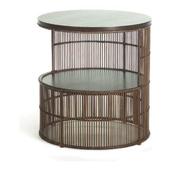 Kenneth Cobonpue - Kenneth Cobonpue Voyage Night Stand - This nightstand is constructed of Abaca for the indoor version and polyethylene for the outdoor version.  Both on a steel frame.  Manufactured by Kenneth Cobonpue in The Philippines.  Price includes delivery to the USA.