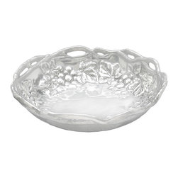 Arthur Court - Grape Pasta Bowl - Made from aluminum, this piece is a shining example of everything a bowl should be. It's generously sized to ensure plenty of pasta for all of your guests. It also looks great as a display piece in your kitchen filled with fresh fruit — including grapes, of course!
