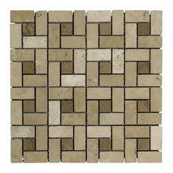 STONE TILE US - Stonetileus 10 pieces (10 Sq.ft) of Big Target Noce White -Tumbled - Big Target - Noce - White -Tumbled Specifications: Coverage: 1 Sq.ft size:  - 1 Sq.ft/Sheet Sheet mount:Meshed back Stone tiles have natural variations therefore color may vary between tiles. This tile contains mixture of light brown - dark brown - and color movement expectation of low variation, consistent, The beauty of this natural stone Mosaic comes with the convenience of high quality and easy installation advantage. This tile has Tumbled surface, and this makes them ideal for walls, kitchen, bathroom, outdoor, Sheets are curved on all four sides, allowing them to fit together to produce a seamless surface area. Recommended use: Indoor - Outdoor - High traffic - Low traffic - Recommended areas: Big Target - Noce - White -Tumbled tile ideal for walls, kitchen, bathroom,Free shipping.. Set of 10 pieces, Covers 10 sq.ft.