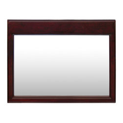 China Furniture and Arts - Rosewood Ming Design Mirror - Beveled in rosewood frame, our classic rectangle rosewood mirror easily fits a variety of decorating styles. To hang in the bedroom, bathroom or hallway. Mounting brassware included. Hand applied beautiful dark cherry finish.