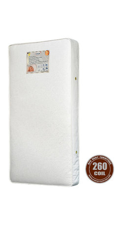 AFG Baby - AFG Baby 260 Coil Mattress - 260 Heavy 15.5 Gauge Steel Coils with 6 gauge border wire for extra support. Features a triple laminated cover for tear and water resistance and air vents to keep it fresh. Meets and exceeds all federal and state flammability standards. Mattress fits toddler beds. Made in the USA.