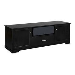 Standout Designs - Standout Designs Horizon EX Wood TV Stand, 1-Drawer, Black on Ash, Wood Doors - The Horizon EX wood TV stand is skillfully made and beautifully finished by Pennsylvania craftsmen using premium American lumber - Ash - extensively throughout. It hosts most flat screen TVs to 80 inches diagonal on its top. No assembly is required.