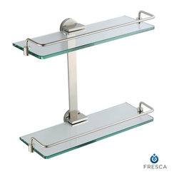 Fresca - Fresca Ultimo 2 Tier Bathroom Glass Shelf - All our bathroom accessories are imported and are selected for their modern, cutting edge designs. All accessories are made with brass with a quadruple brushed nickel finish. All our accessories have been chosen to complement our other line of products including our vanities, steam showers, whirlpools, and toilets.