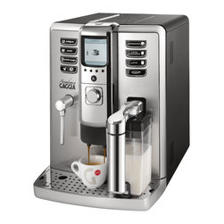 Gaggia - Gaggia Accademia - Coffee on demand has never been easier. With the Gaggia Accademia, seven dedicated drink buttons for espresso, caffe, caffe lungo, cappuccino, latte macchiato, and hot water mean that great tasting beverages are just moments away. The machine can also memorize your preferences for truly customized drinks.