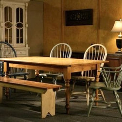 Harvest Dining Table With Golden Brown Finish - Made by www.ecustomfinishes.com