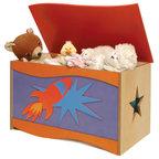 Badger Basket Kids 39 Storage Bench With Cushion And Three Bins