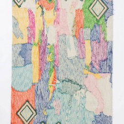 Crewel Abstraction Rug - This rug is proof that art isn't just reserved for the walls. This rug is like an abstract piece of art. I love rugs like this because they allow the eye to look around the entire room and take in not only the obvious spaces for art, but also the floors! This would be beautiful in a foyer or hallway.