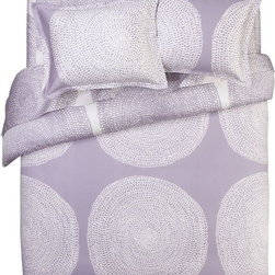 Marimekko Pippurikera Wisteria Duvet Cover - This is whimsical, right? The purple is so pretty, and the shapes on it aren't too feminine. I think it would look great in a fun master bedroom.