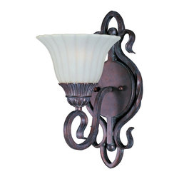 Via Roma Bronze Iron 1-light Wall Sconce -
