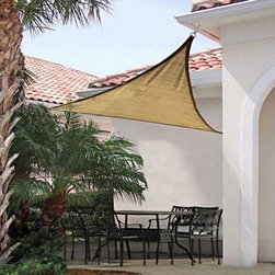 ShelterLogic 12 ft. Triangle Shade Sail - Create your own shade environment with our versatile outdoor Sun Shade Sails. Provides customizable sun protection innovative design quality features all at an affordable price. Full 12x12x12 coverage. Sand earth tone color fabric.